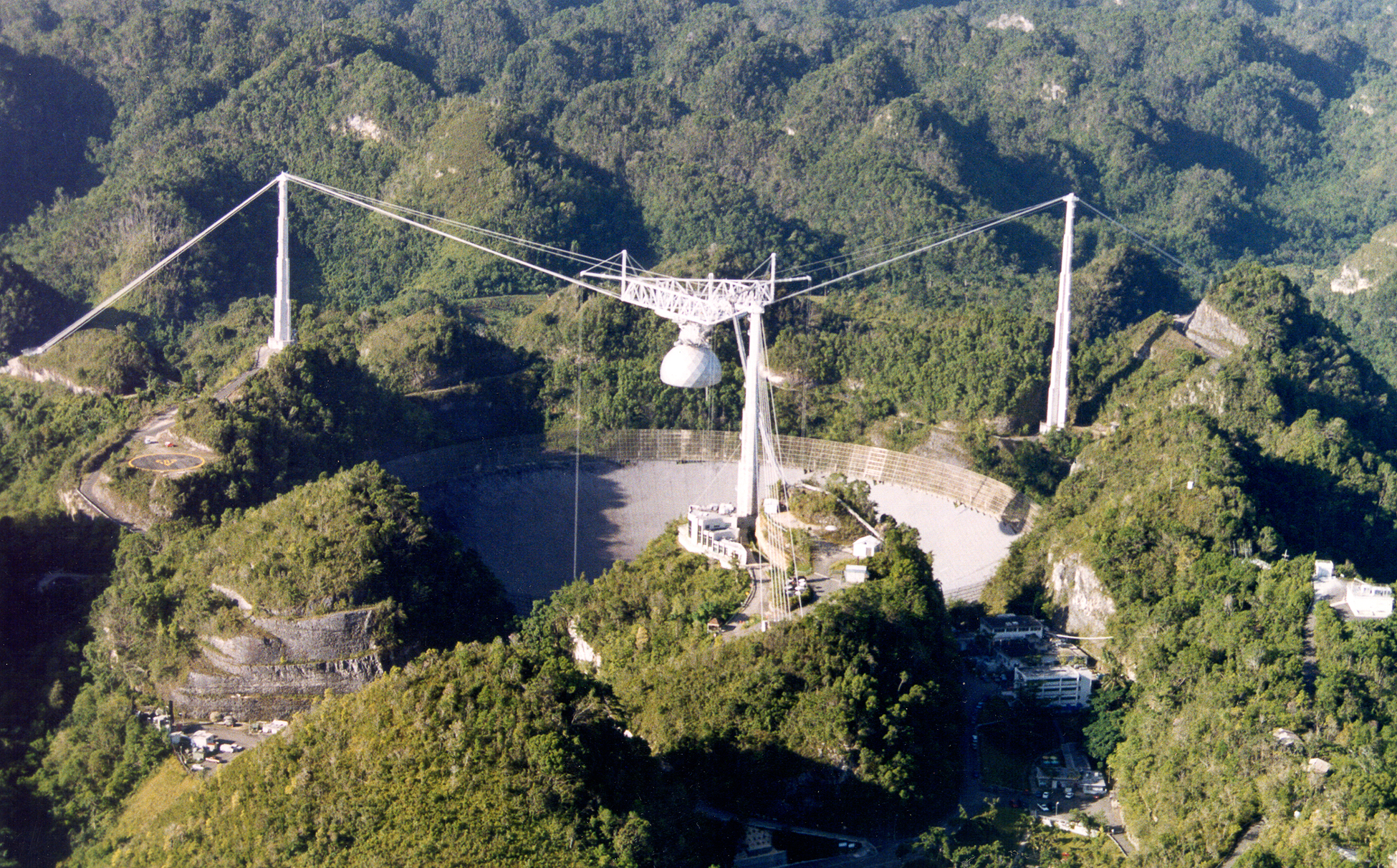 Airplane View of the Arecibo Observatory